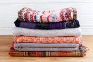 organized blankets - organizing u
